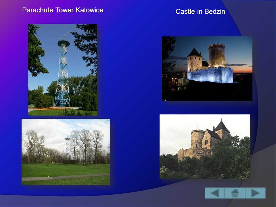 Capital City: Katowice Area: 12 333,51 km² Historical Monuments: - Ogrodzieniec Castle - Castle In Bedzin - Parachute Tower Katowice - Bledow Desert Silesia is located in the south of Poland.