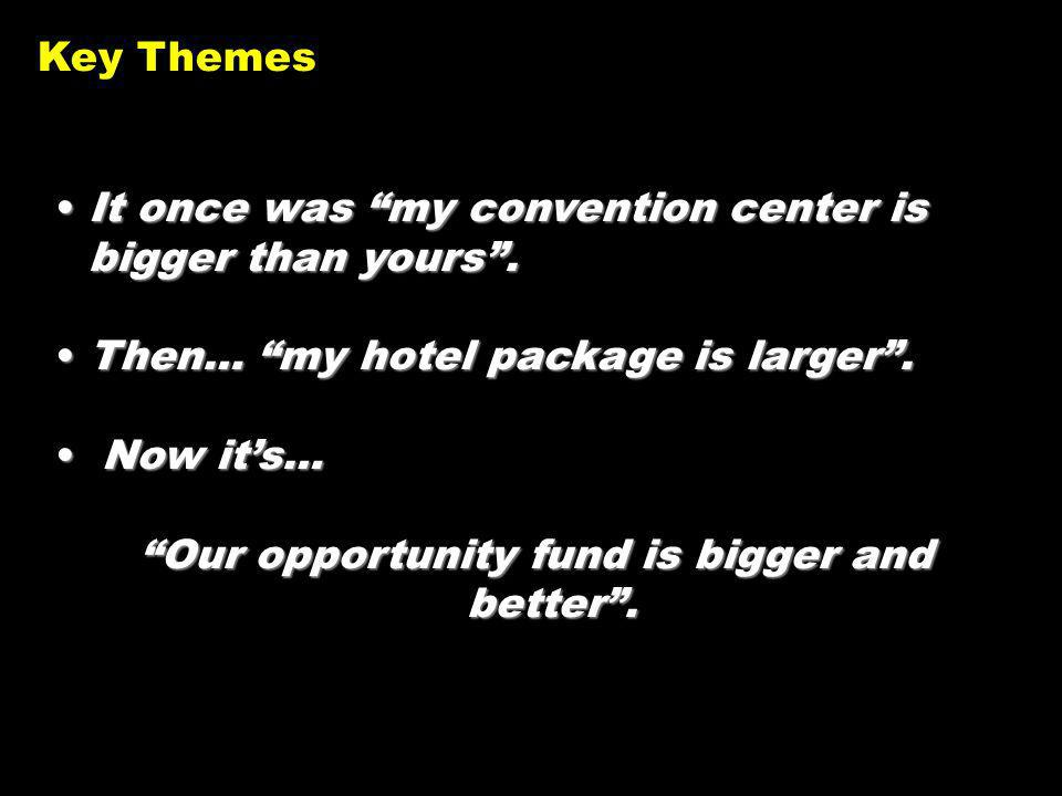 It once was my convention center is bigger than yours.It once was my convention center is bigger than yours.
