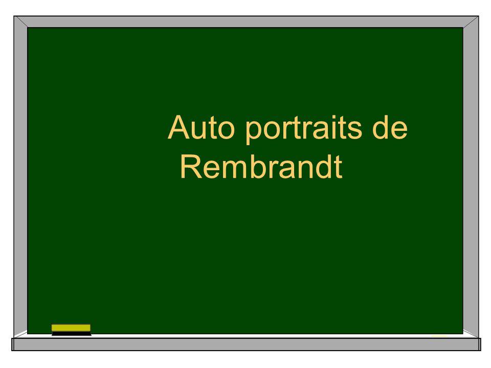 Auto portraits de Rembrandt