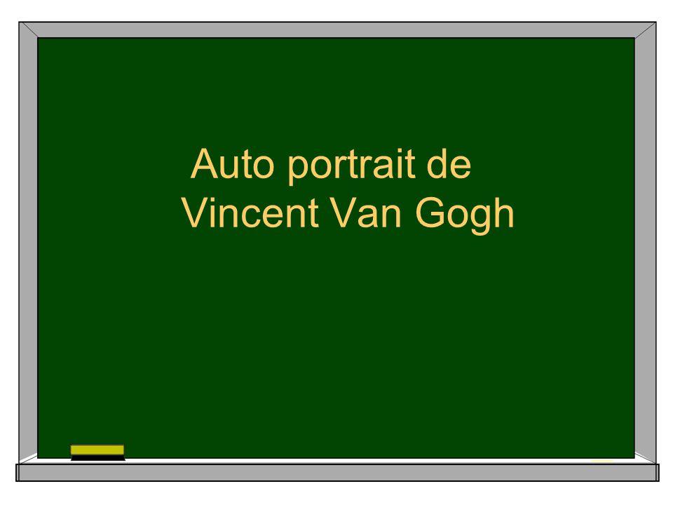 Auto portrait de Vincent Van Gogh
