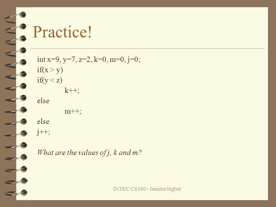 INTEC CS160 - Jeanine Ingber Practice.