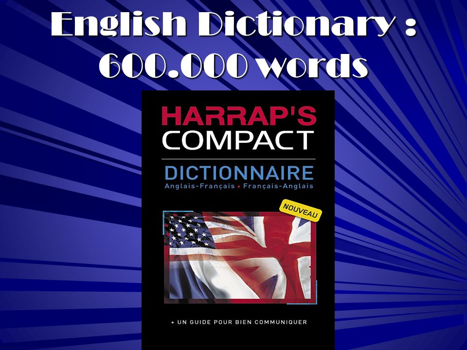 English Dictionary : 600.000 words