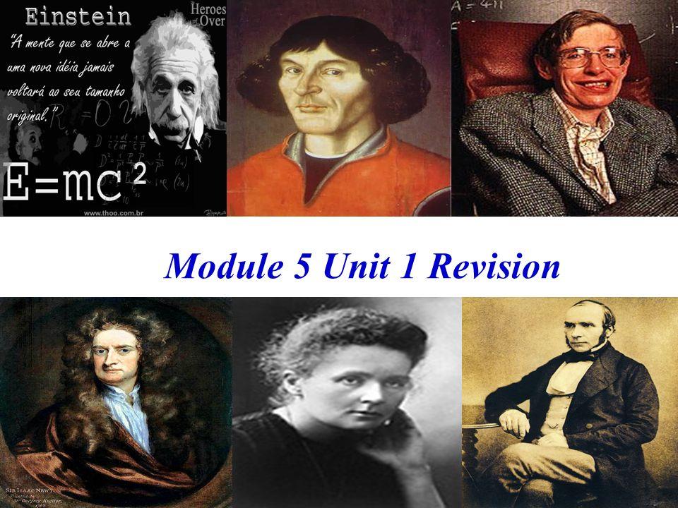 Module 5 Unit 1 Revision