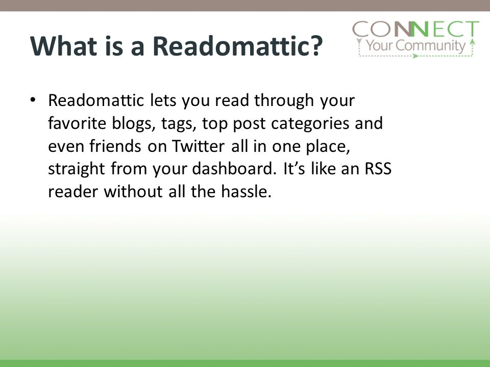 What is a Readomattic.