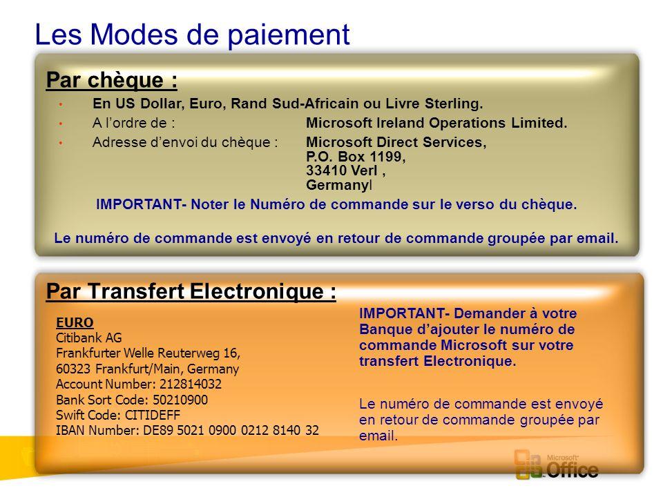 Procédures (après la commande) Annulation de commande Appeler le Call centre 0800 902 791 et donner le numéro de commande.