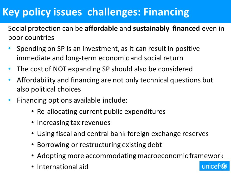 24 Key Policy Issues and Challenges