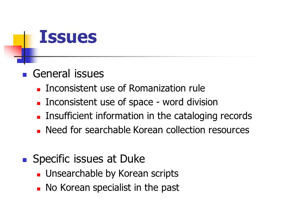 Outcomes (continued) Expandability Korean book collections Table of contents in Korean literature Adaptable to other languages Efficient integrated workflow Selection list Acquisition list
