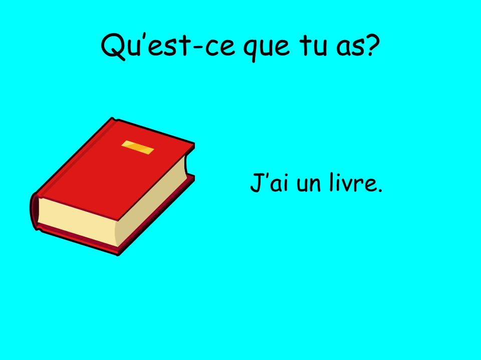 Quest-ce que tu as? Jai un agenda.