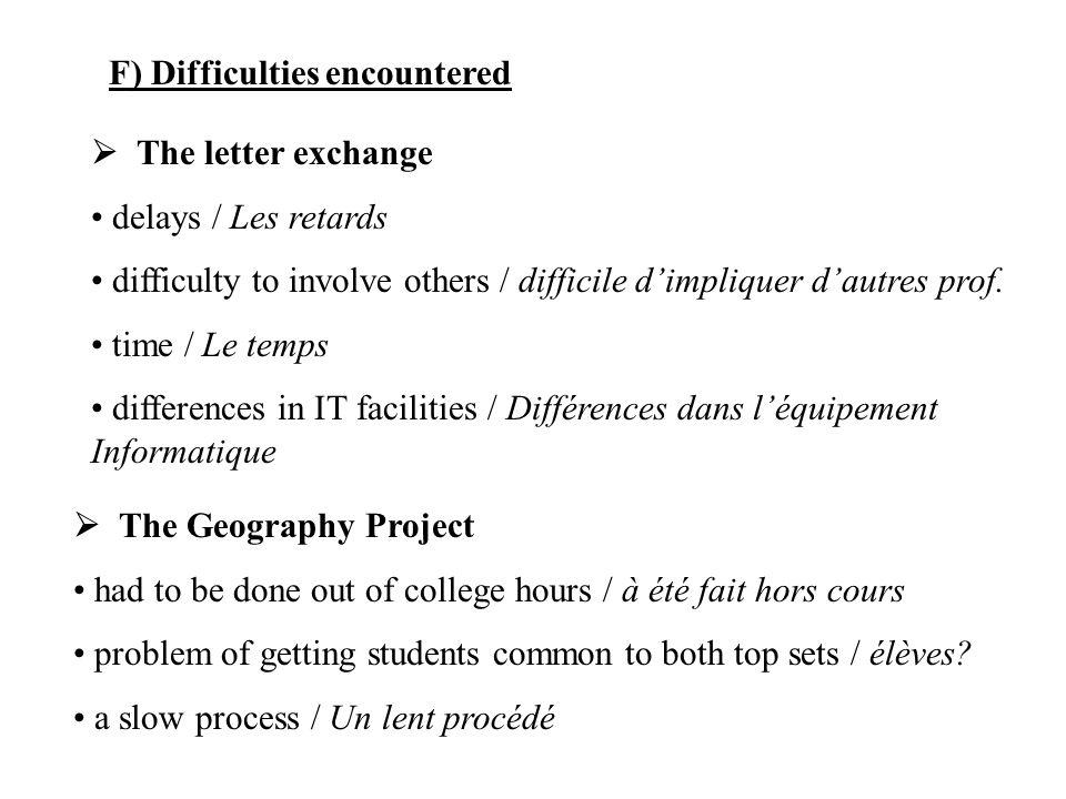 The exchange Dates available./ Touver des dates qui conviennent.