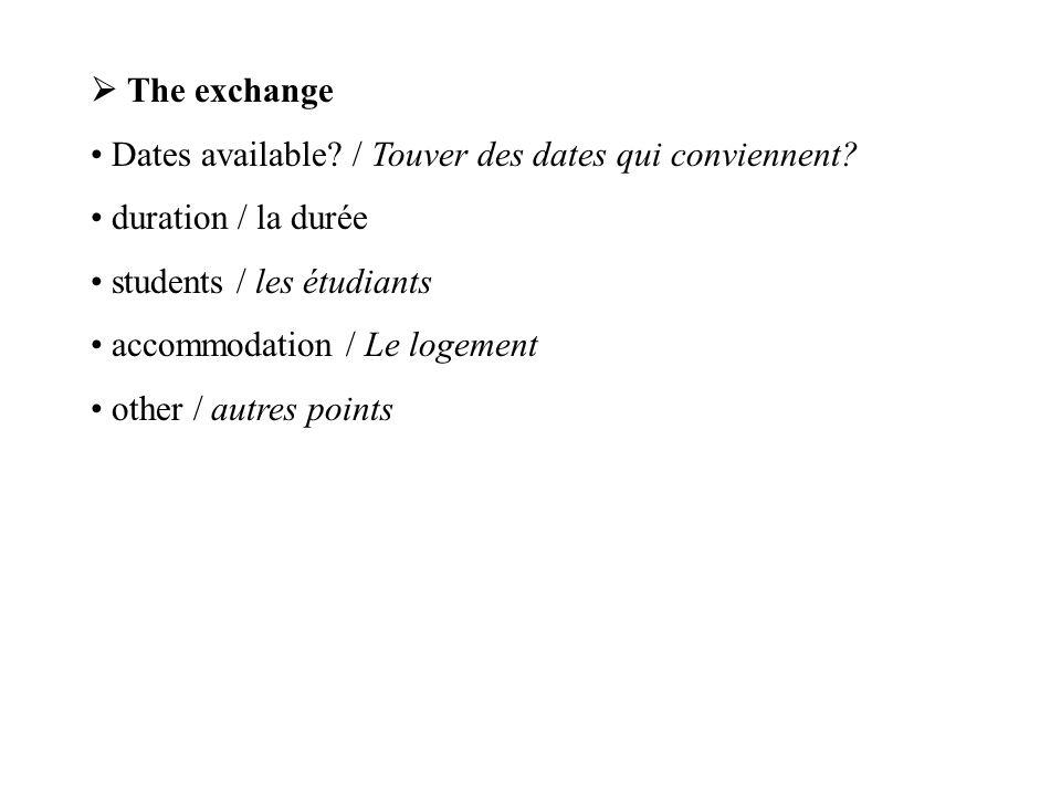 G) What next./ Et après. Establishment of a work experience link.