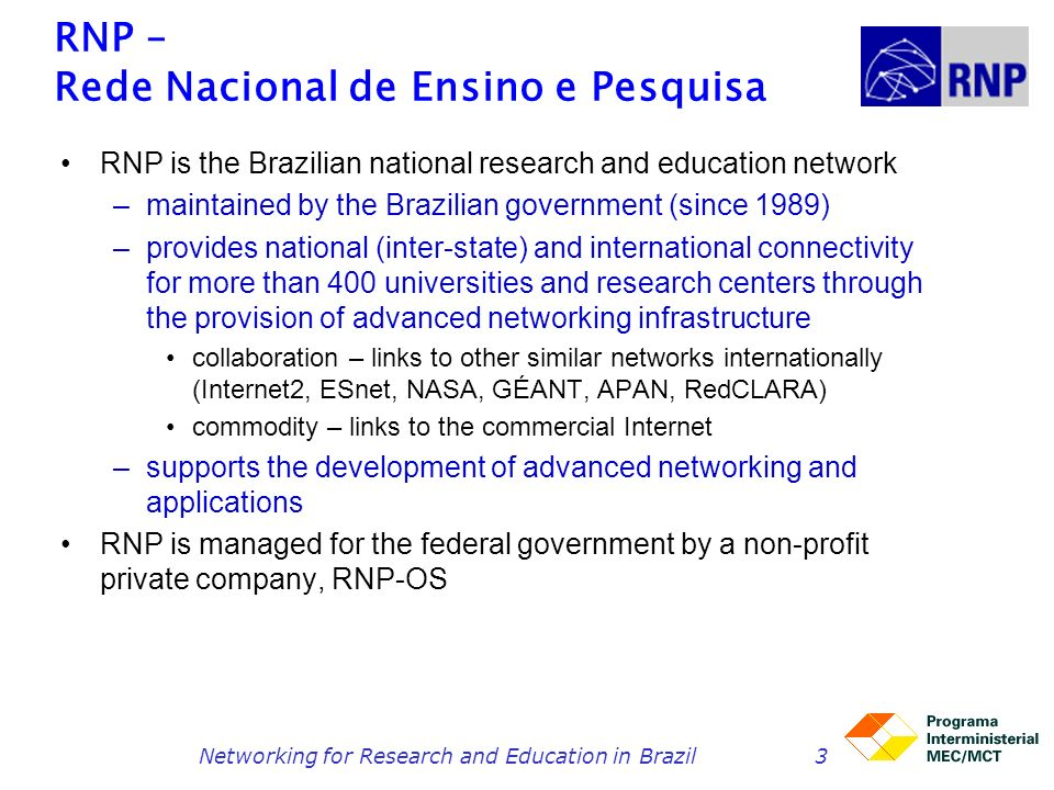 Networking for Research and Education in Brazil14 IPÊ: next generation network (2005) use of multiple Gbps for interstate links initially between 10 cities unprotected 2.5 and 10G waves from two telcos routers from Juniper Networks (M320, M40) commissioned in November 2005 IPÊ – Nov 2005 (60 Gbps) Fortaleza Recife Salvador Rio de Janeiro Belo Horizonte Brasília São Paulo Curitiba Florianópolis Porto Alegre 2.5 Gbps 10 Gbps