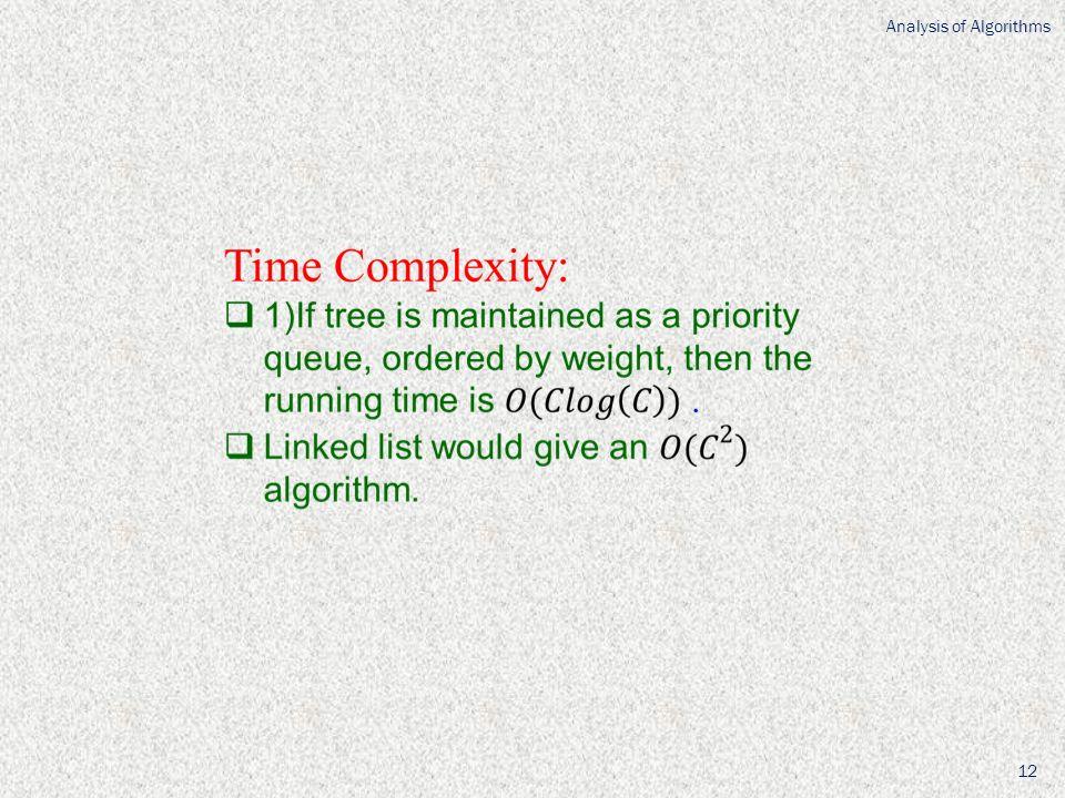 Analysis of Algorithms 12