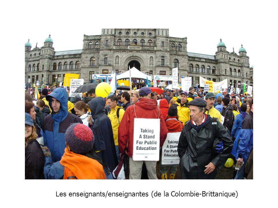 Les enseignants /enseignantes (de la Colombie-Brittanique)