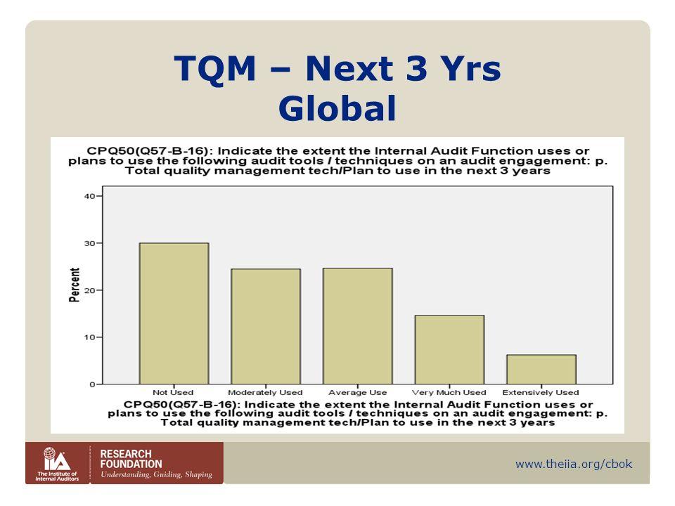 www.theiia.org/cbok TQM – Next 3 Yrs Global