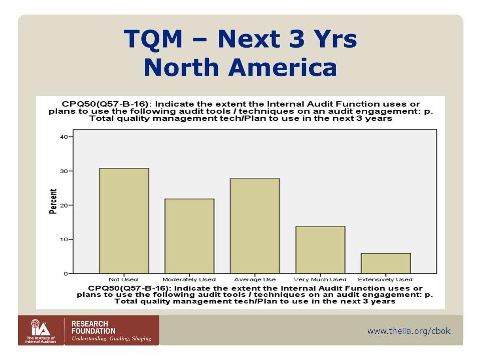 www.theiia.org/cbok TQM – Next 3 Yrs North America
