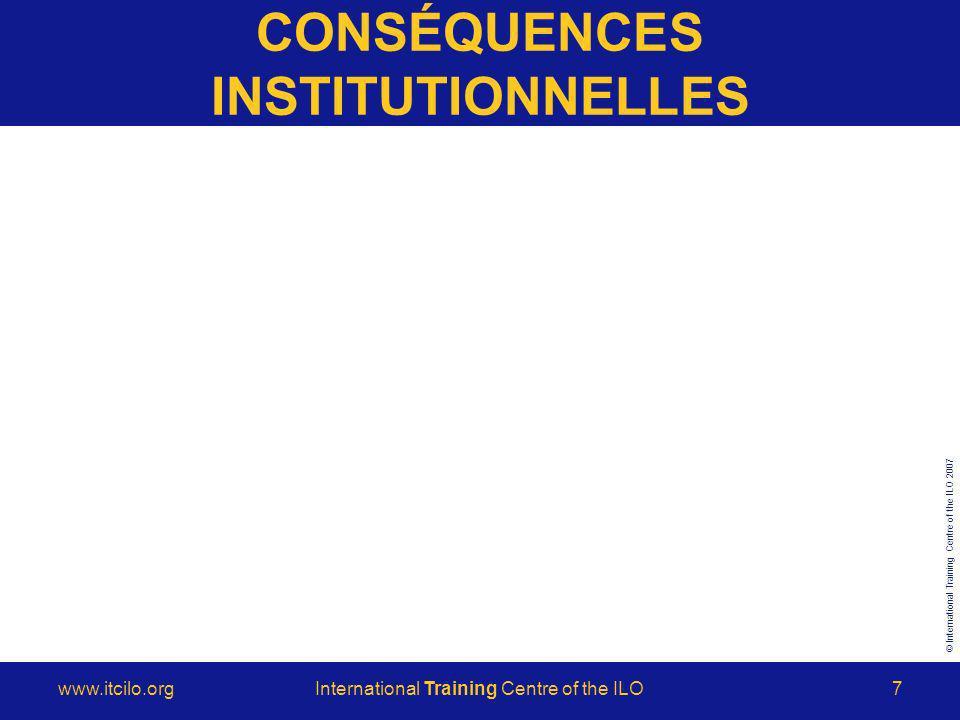© International Training Centre of the ILO 2007 www.itcilo.orgInternational Training Centre of the ILO18 ANCRAGE
