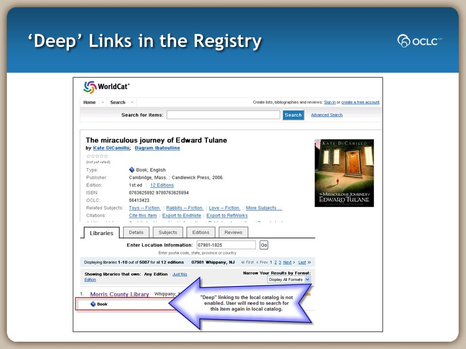 Deep Links in the Registry