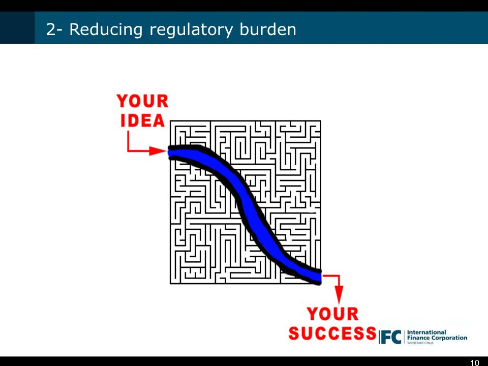 2- Reducing regulatory burden 10
