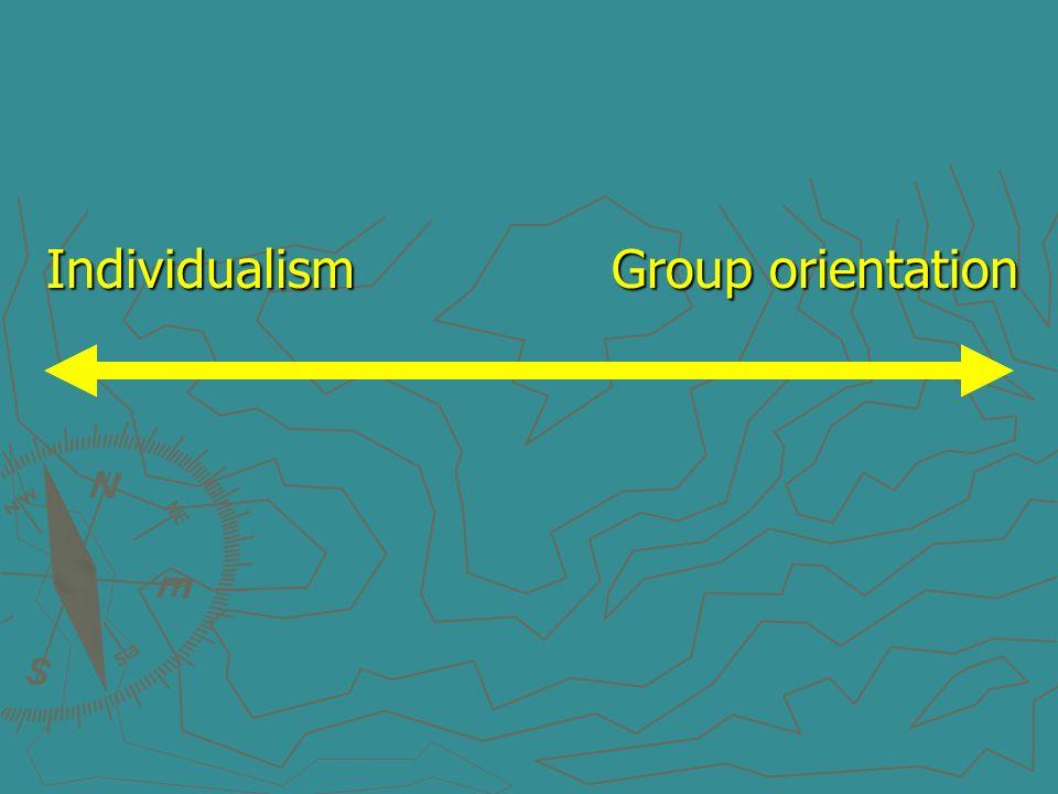 Individualism Group orientation