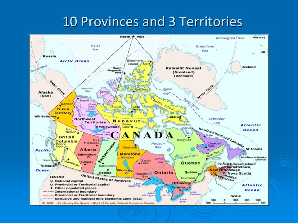 10 Provinces and 3 Territories