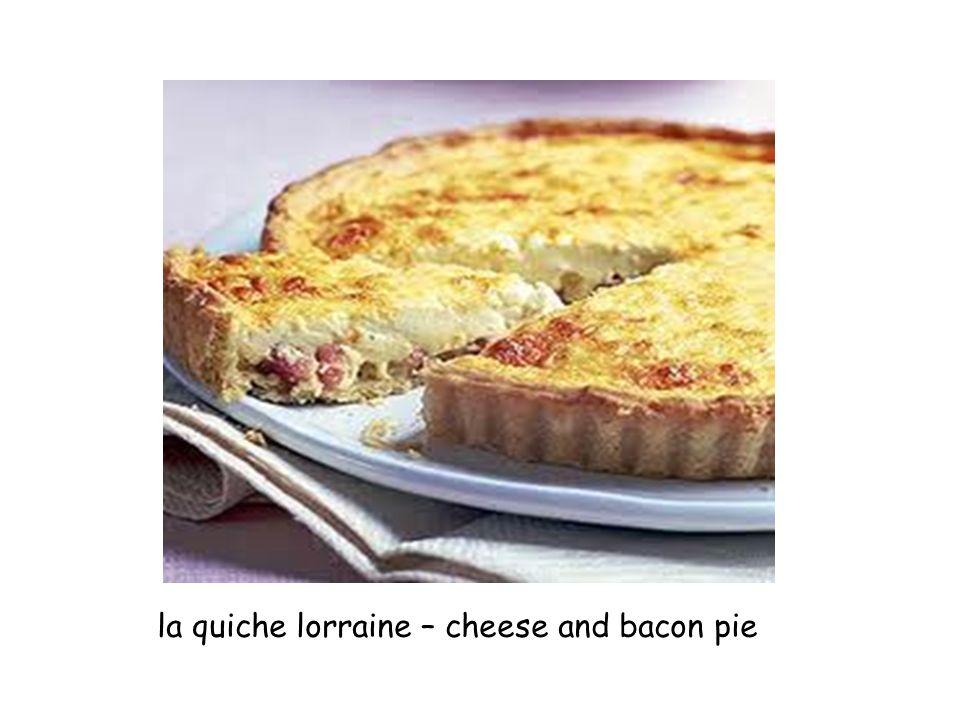 la quiche lorraine – cheese and bacon pie