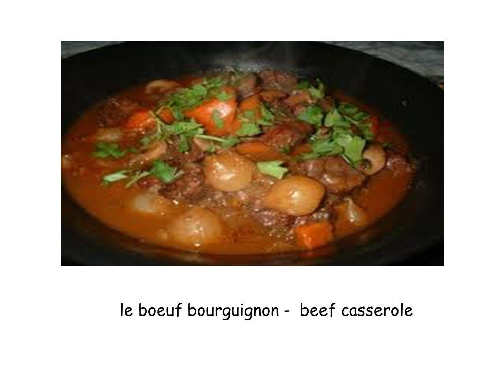 le boeuf bourguignon - beef casserole