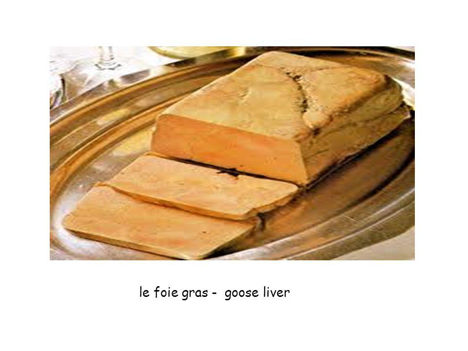 le foie gras - goose liver
