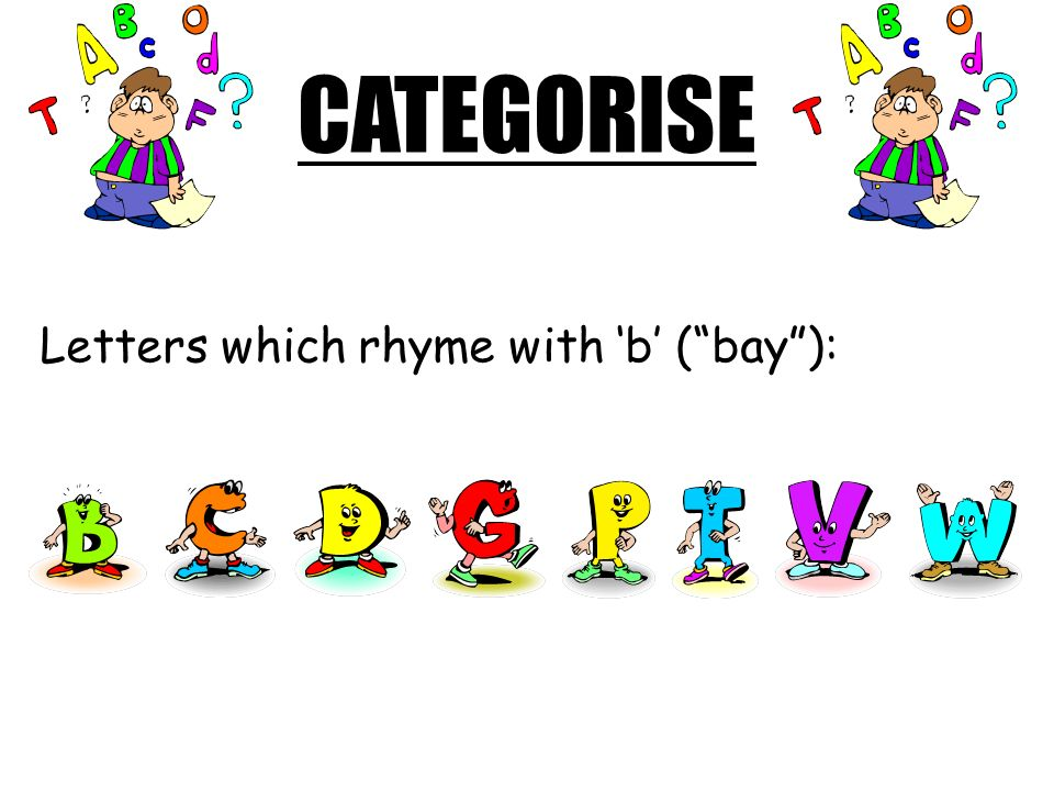 LEARNING OBJECTIVE To be able to say and sing the French alphabet.