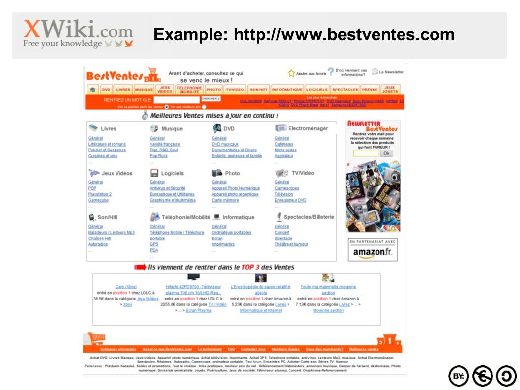Example: http://www.bestventes.com