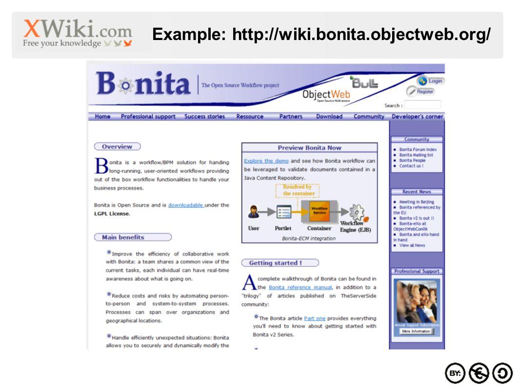 Example: http://wiki.bonita.objectweb.org/