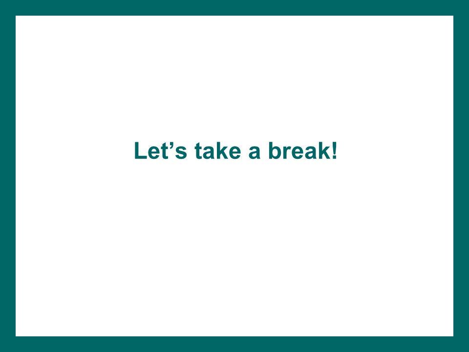 Lets take a break!