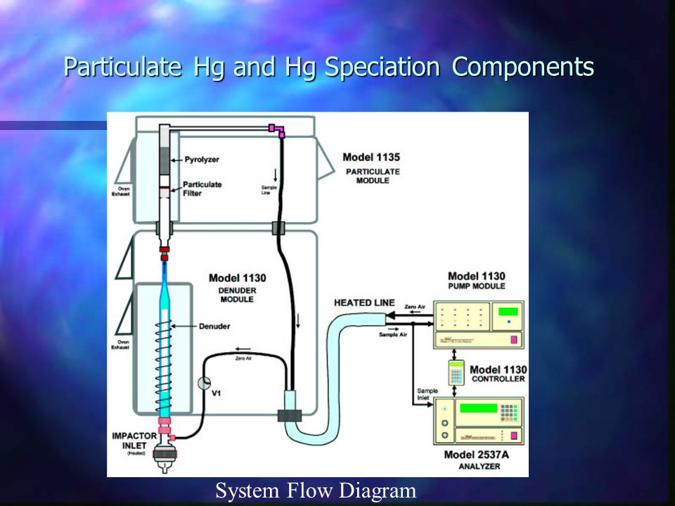 Particulate Hg and Hg Speciation Components System Flow Diagram