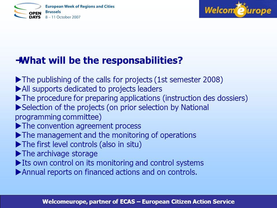 What will be the responsabilities.