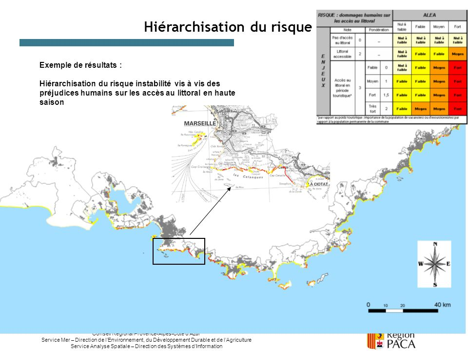 Conseil Régional Provence-Alpes-Côte dAzur Service Mer – Direction de lEnvironnement, du Développement Durable et de lAgriculture Service Analyse Spat