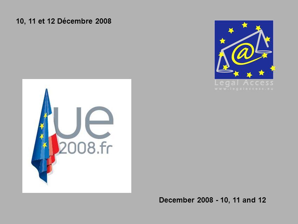 10, 11 et 12 Décembre 2008 December 2008 - 10, 11 and 12