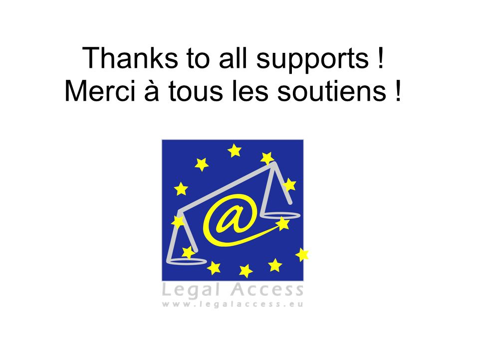 Thanks to all supports ! Merci à tous les soutiens !