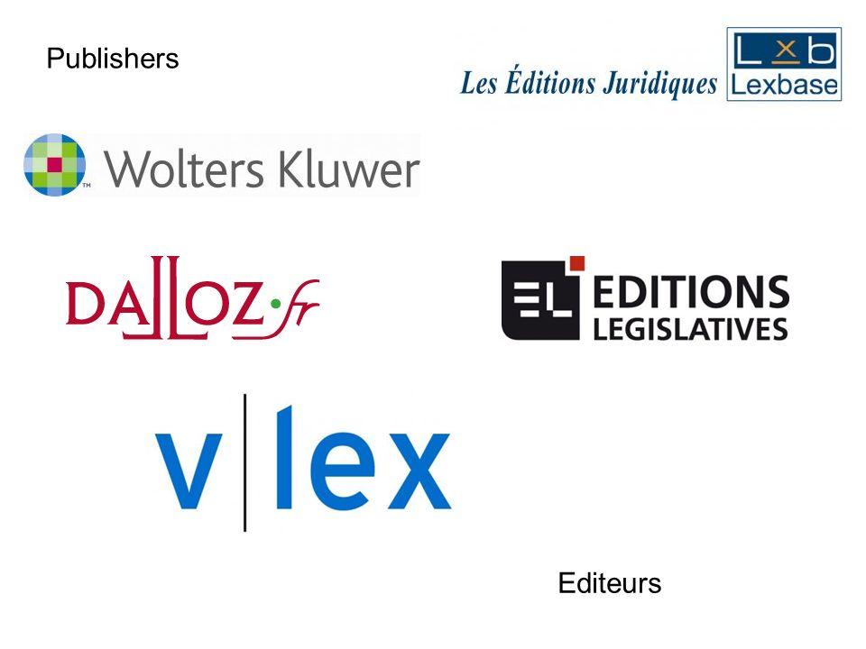 Editeurs Publishers