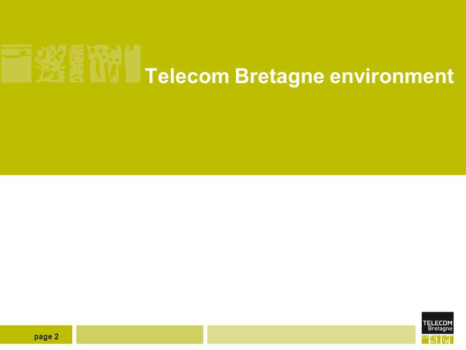 page 2 Telecom Bretagne environment