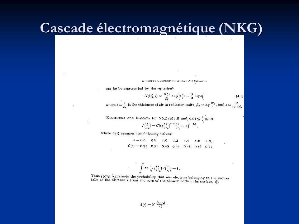 Cascade électromagnétique (NKG) Cascade électromagnétique (NKG)