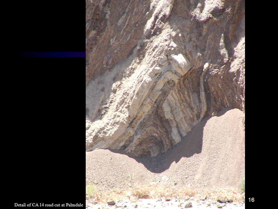 16 Detail of CA 14 road cut at Palmdale