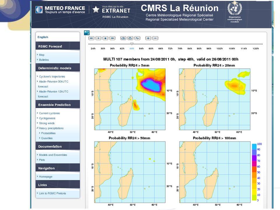 2. Website of RSMC La Réunion Strike probabilities (PEArp)