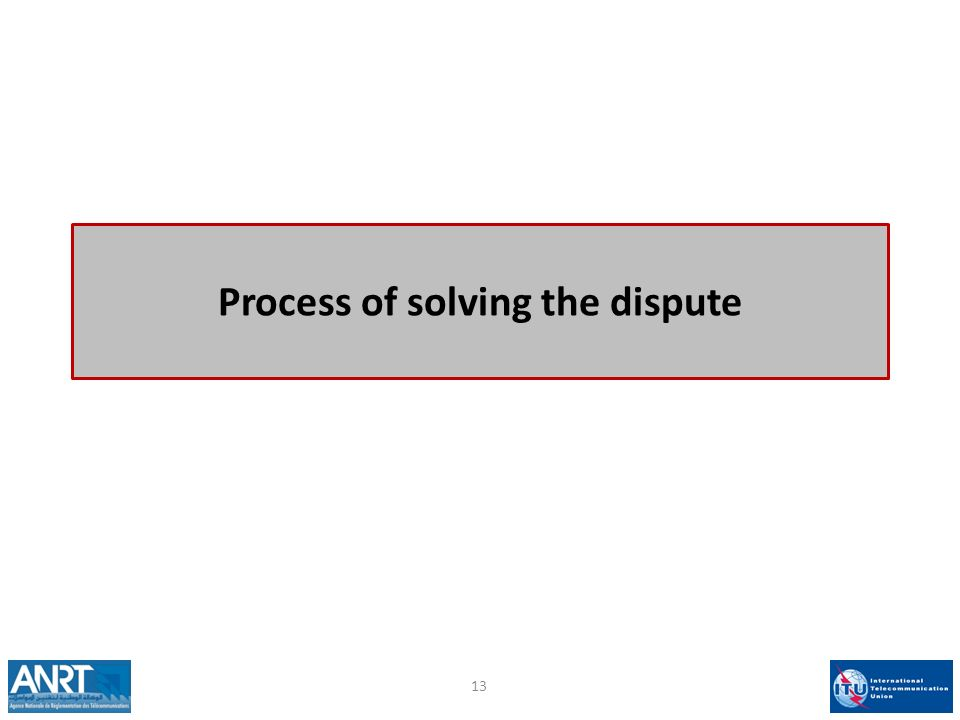 Process of solving the dispute 13