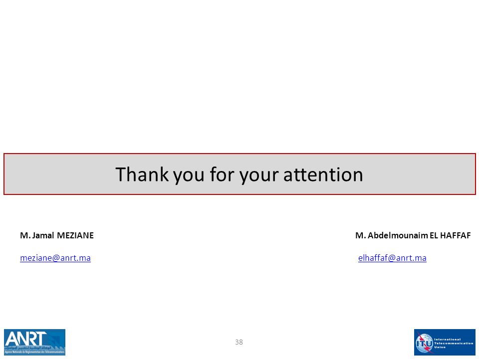 Thank you for your attention M. Jamal MEZIANE M.