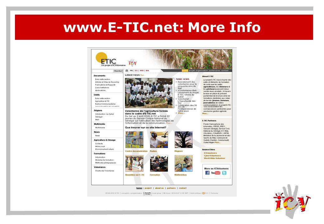 www.E-TIC.net: More Info