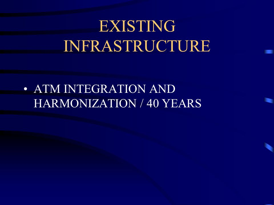 EXISTING INFRASTRUCTURE ATM INTEGRATION AND HARMONIZATION / 40 YEARS