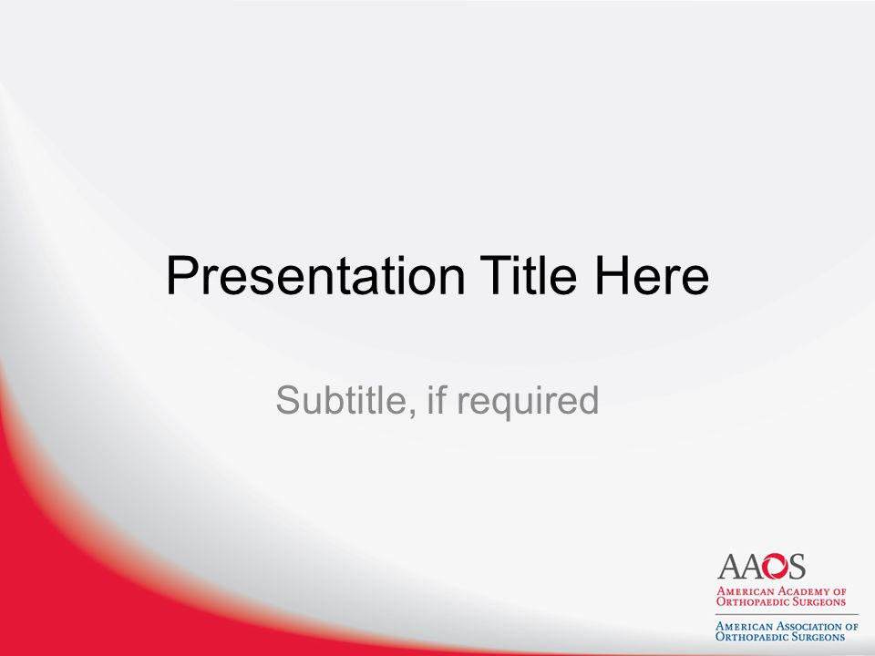 Presentation Title Here Subtitle, if required