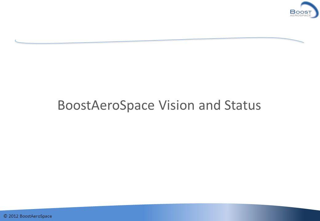 © 2012 BoostAeroSpace BoostAeroSpace Vision and Status