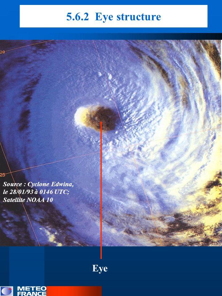 Eye 5.6.2 Eye structure Source : Cyclone Edwina, le 28/01/93 à 0146 UTC; Satellite NOAA 10