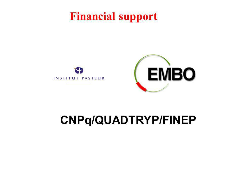 Financial support CNPq/QUADTRYP/FINEP