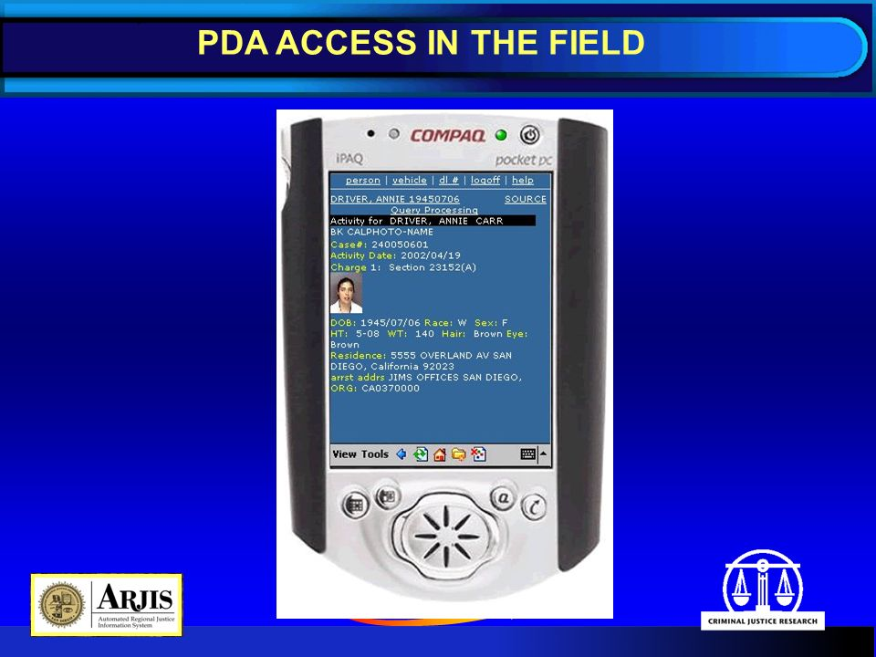 PDA ACCESS IN THE FIELD